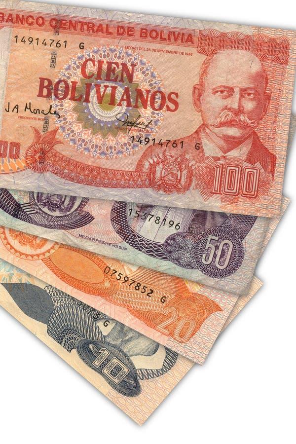 Dinero en circulación boliviano imagen de archivo