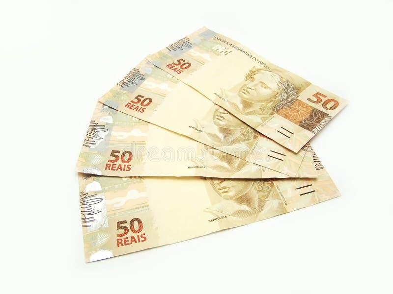 Dinero en circulación brasileño imagen de archivo libre de regalías
