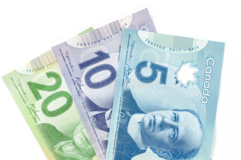 Dinero en circulación canadiense imágenes de archivo libres de regalías