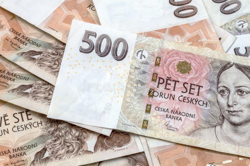 Dinero en circulación checo foto de archivo