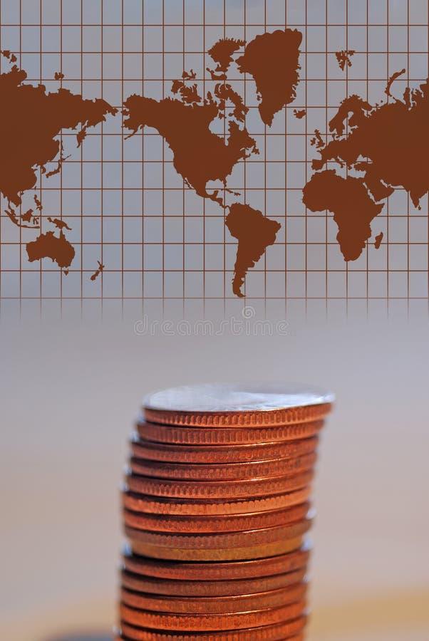 Dinero en circulación con la correspondencia de la palabra fotos de archivo libres de regalías
