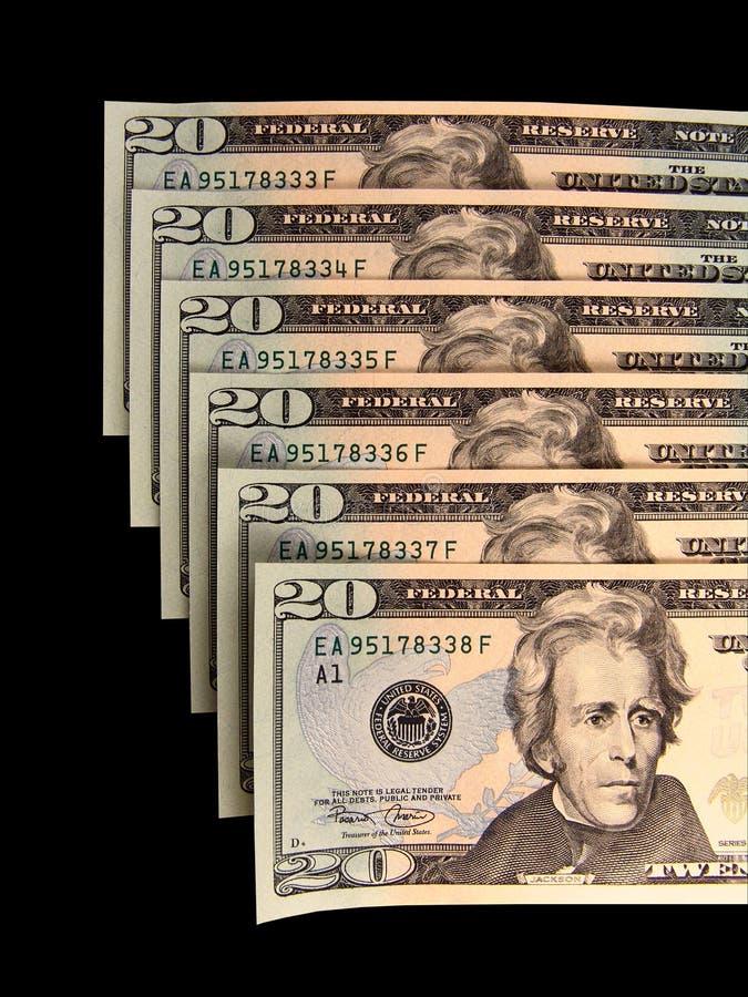 Dinero en circulación con números consecutivos imagen de archivo libre de regalías