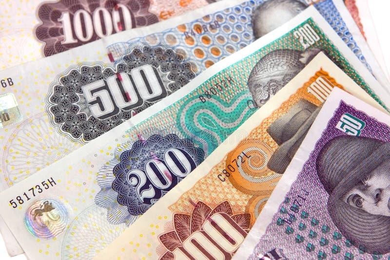 Dinero en circulación danés fotos de archivo