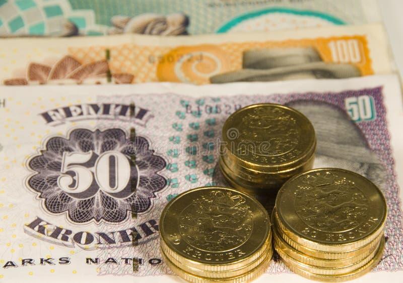 Dinero en circulación danés imágenes de archivo libres de regalías