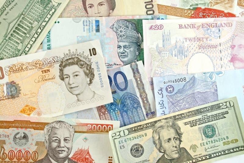 Dinero en circulación de Gobal fotografía de archivo libre de regalías