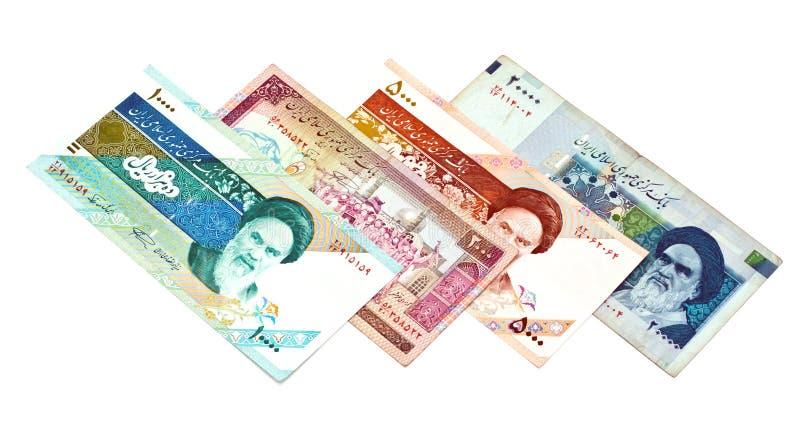 Dinero en circulación de Irán fotos de archivo libres de regalías