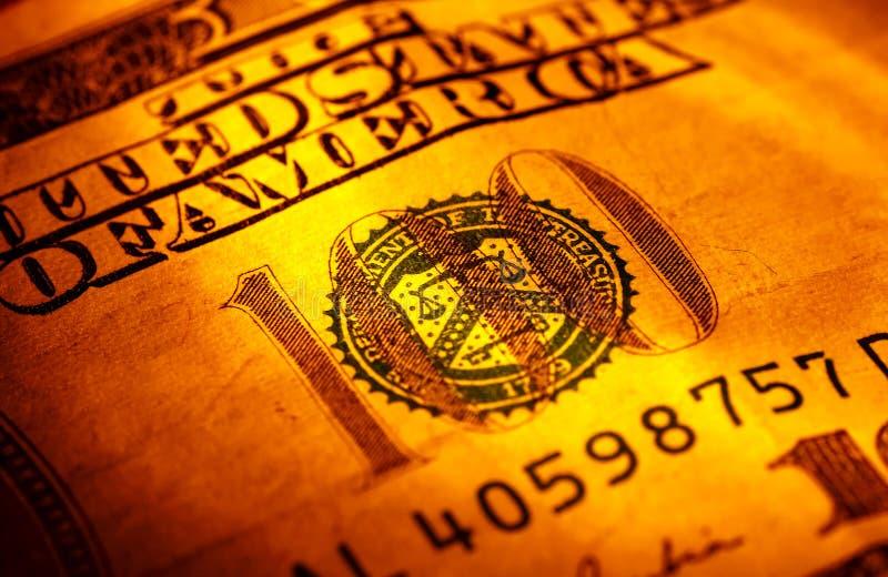 Dinero en circulación de los E.E.U.U. foto de archivo