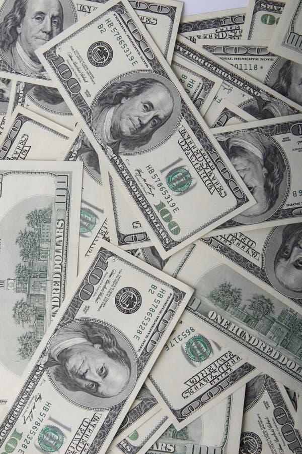 Dinero en circulación de los E.E.U.U. imagenes de archivo