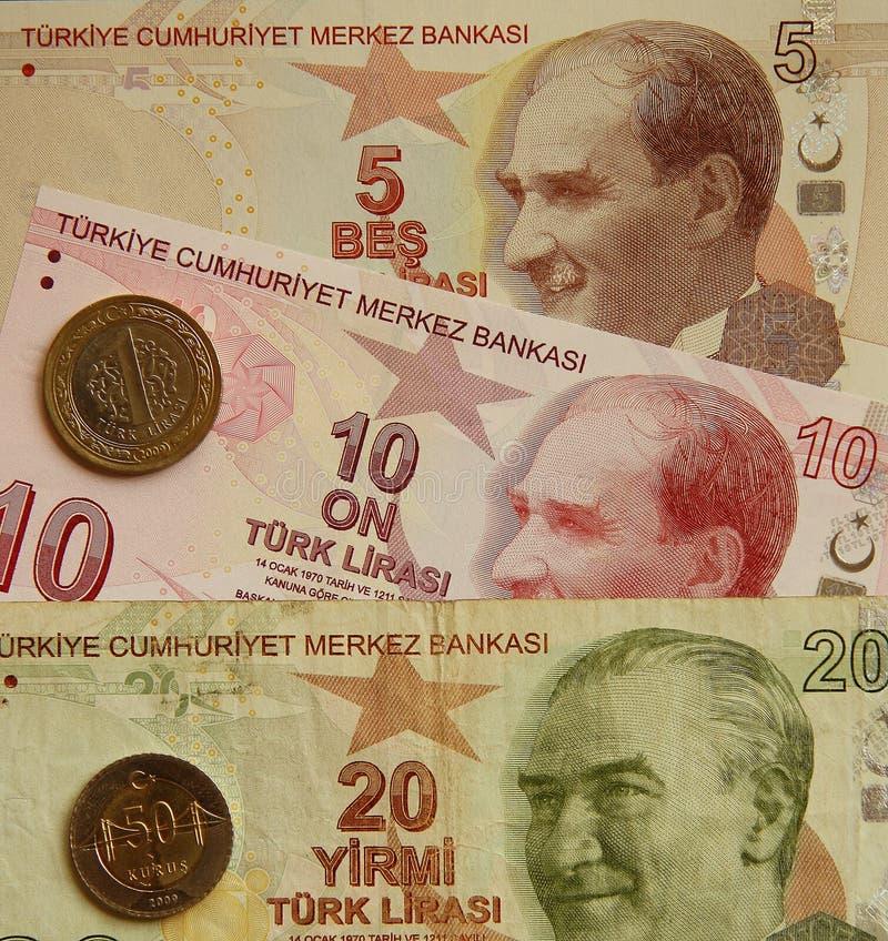 Dinero en circulación de Turquía fotografía de archivo libre de regalías