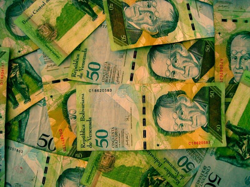 Dinero en circulación de Venezuela fotos de archivo