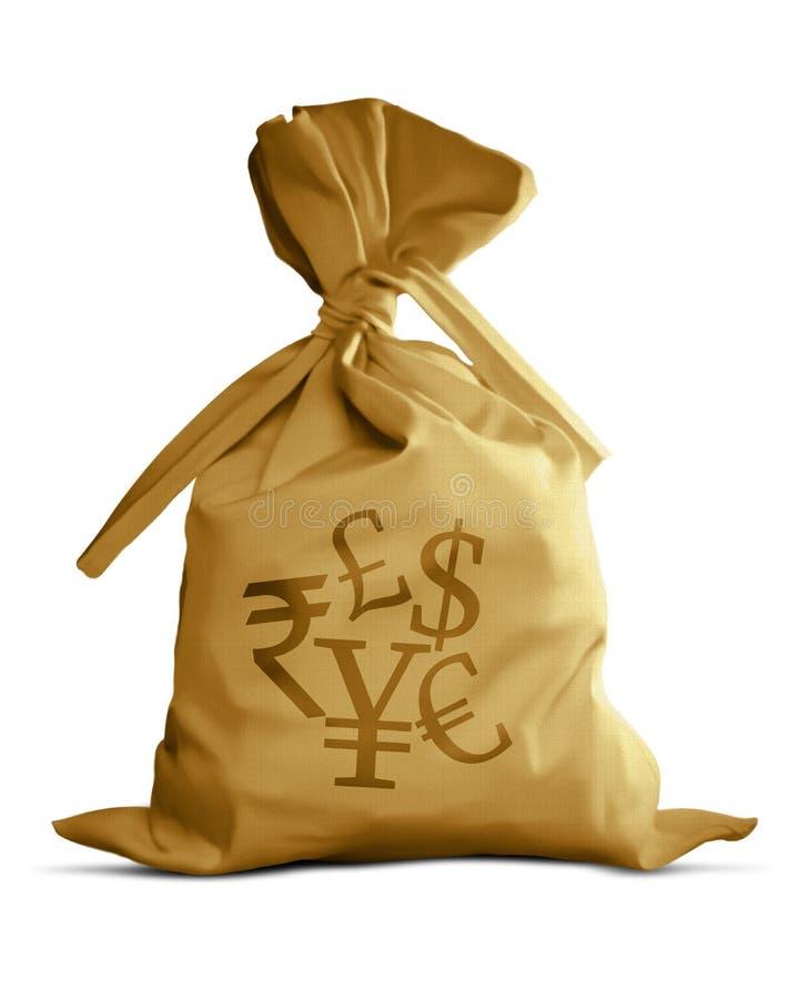 Dinero en circulación del bolso del dinero