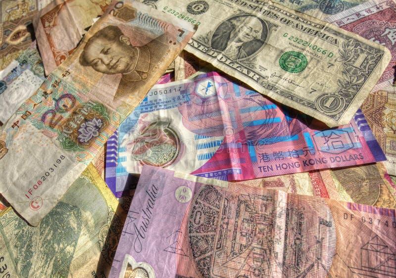Dinero en circulación del comercio internacional fotografía de archivo
