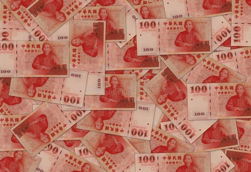 Dinero en circulación del dólar de nuevo Taiwán imagen de archivo