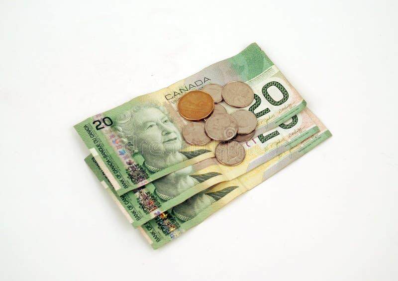 Dinero en circulación - dinero canadiense imágenes de archivo libres de regalías