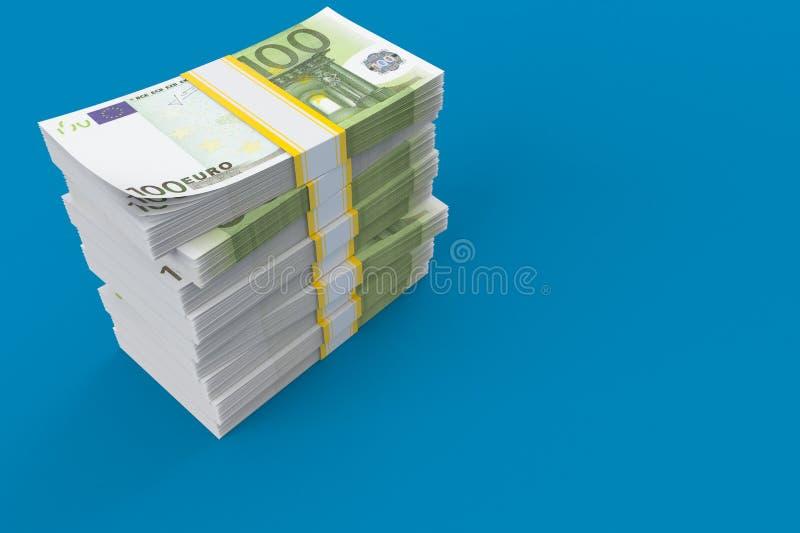 Dinero en circulación euro libre illustration