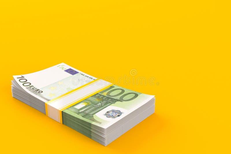 Dinero en circulación euro ilustración del vector