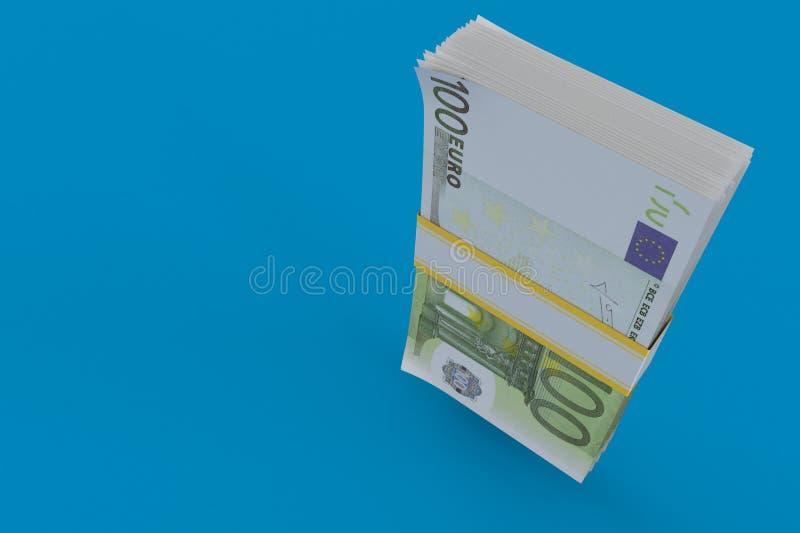 Dinero en circulación euro stock de ilustración