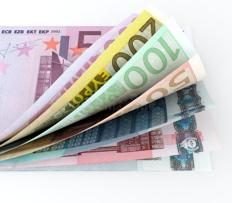 Dinero en circulación europeo libre illustration