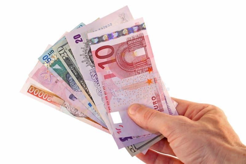 Dinero en circulación global imagen de archivo