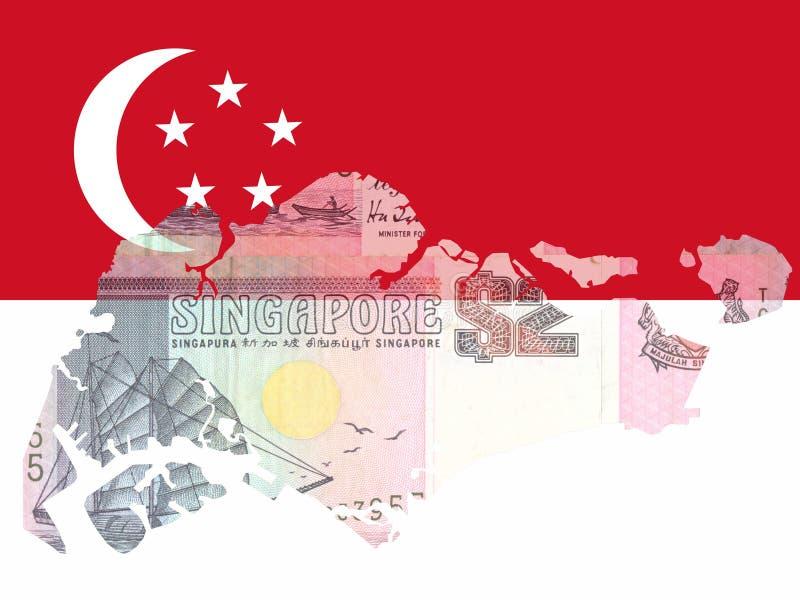 Dinero en circulación singapurense ilustración del vector