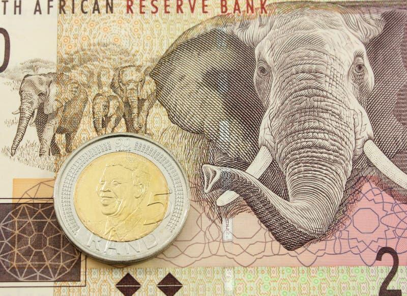 Dinero en circulación surafricano fotografía de archivo libre de regalías