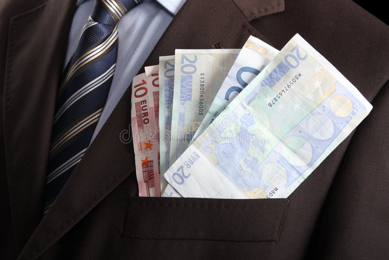 Dinero en el bolsillo imagen de archivo
