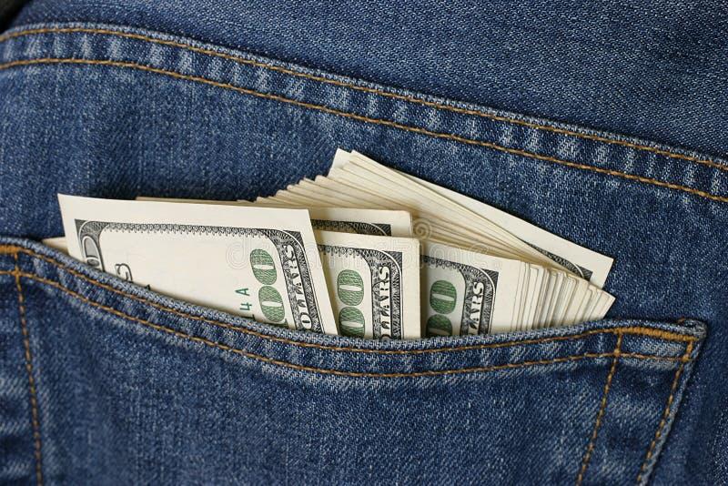 Dinero En El Bolsillo Fotografía de archivo