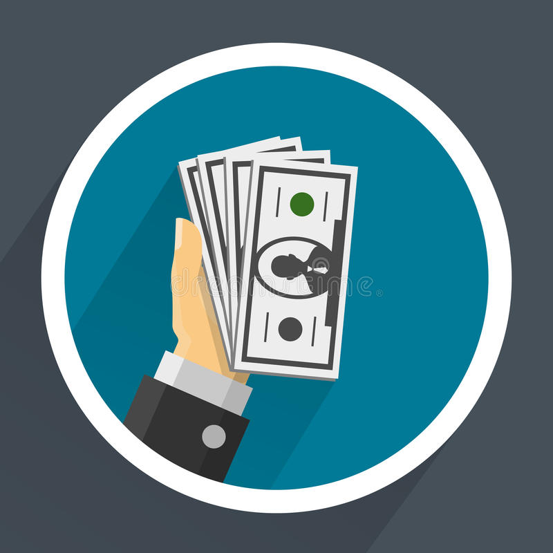 Dinero en manos ilustración del vector