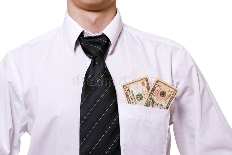 Dinero en un bolsillo fotografía de archivo libre de regalías