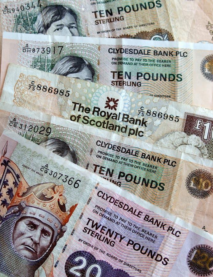 Dinero escocés imagenes de archivo