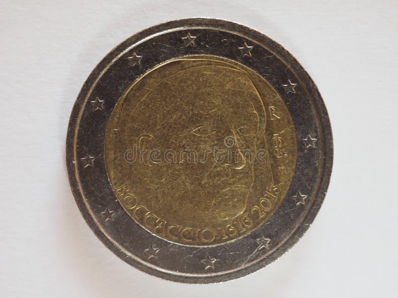 dinero EUR del euro 2 imagen de archivo