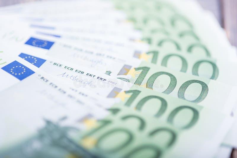 Dinero euro fondo euro del efectivo Billetes de banco euro del dinero imagen de archivo libre de regalías