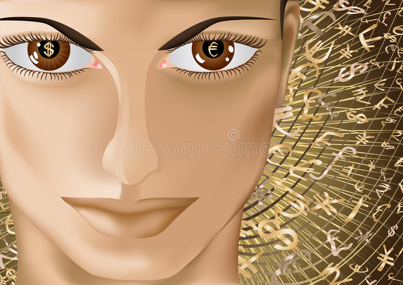 Dinero eyes_2 libre illustration
