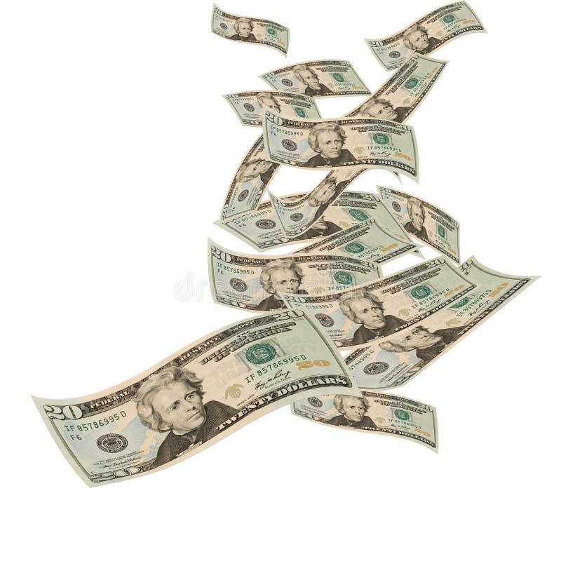Dinero flotante fotografía de archivo libre de regalías