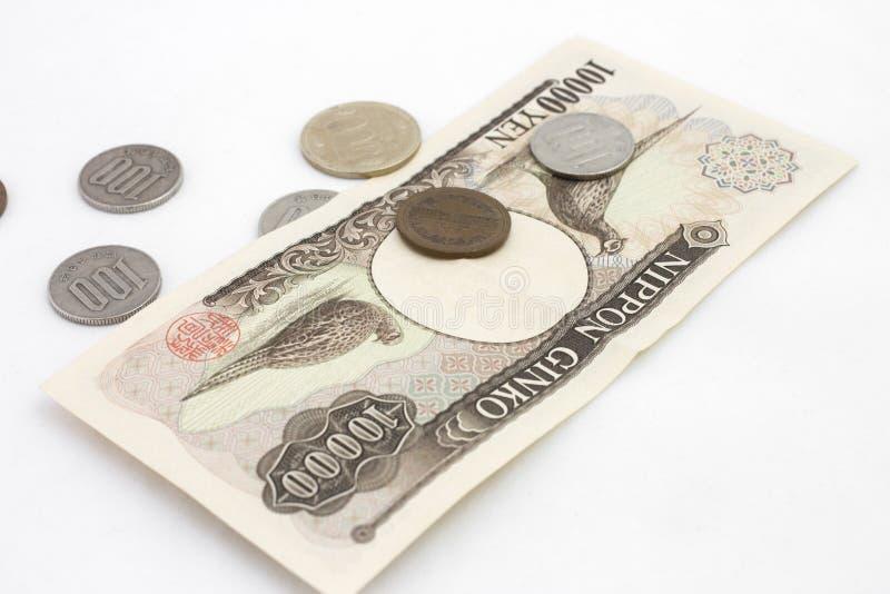 Dinero japonés foto de archivo