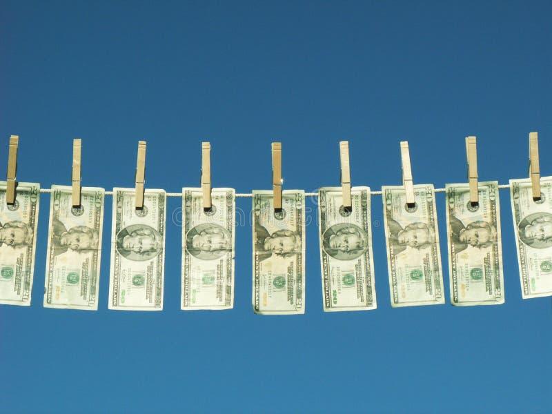 Dinero lavado planchado foto de archivo libre de regalías