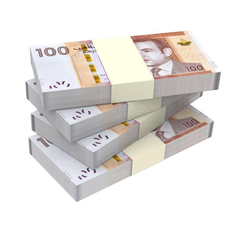 Dinero marroquí aislado en el fondo blanco libre illustration