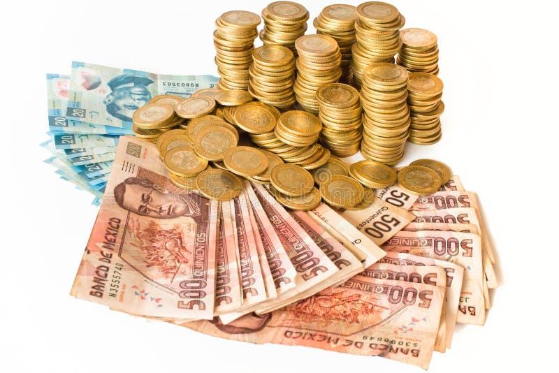 Dinero mexicano fotos de archivo
