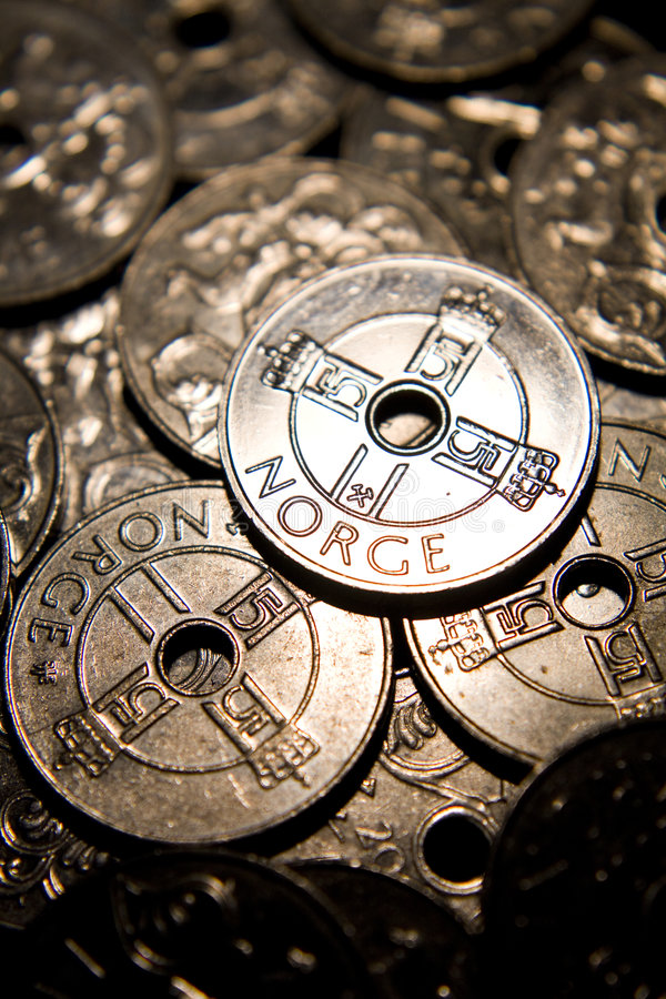Dinero noruego imagenes de archivo