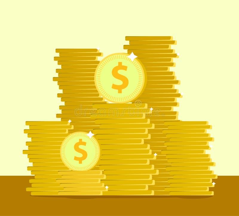 Dinero o banco de ahorro D?lares Dise?o del ejemplo del vector ilustración del vector