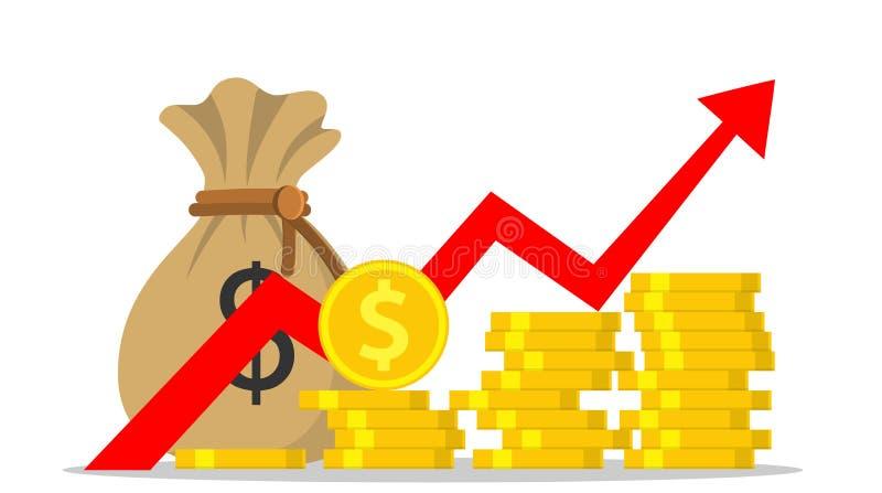 Dinero o presupuesto del beneficio stock de ilustración