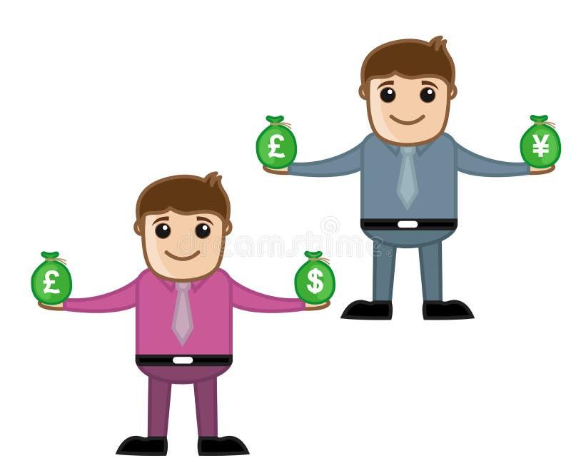 Dinero oficina y hombres de negocios del personaje de for Oficina de prestaciones