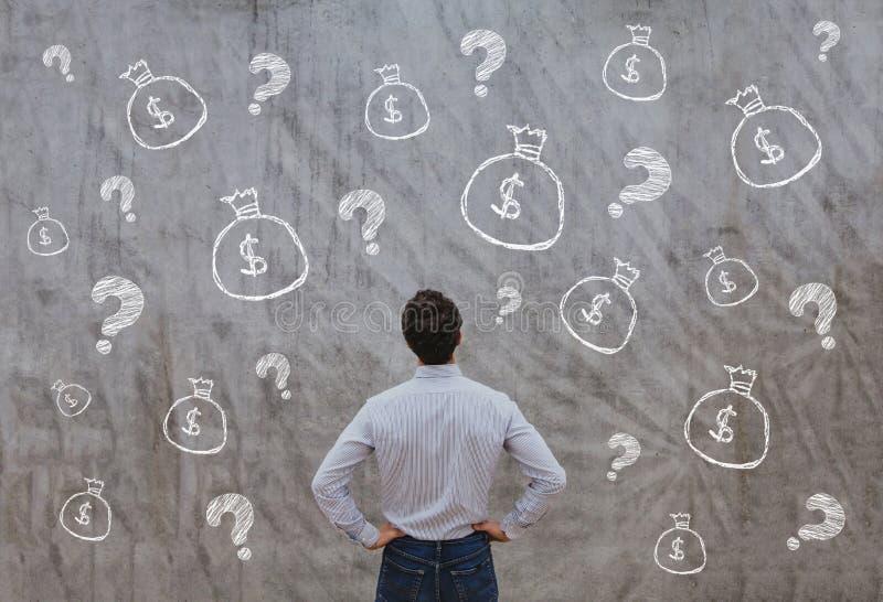 Dinero para el inicio, concepto del negocio stock de ilustración