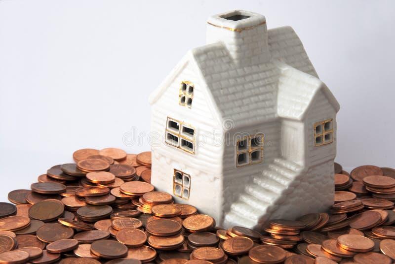 Dinero para la casa imágenes de archivo libres de regalías
