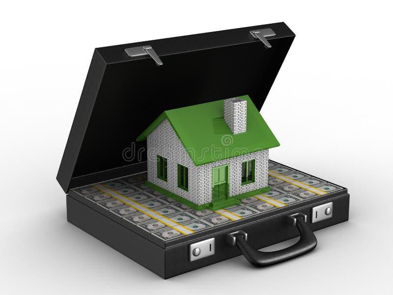 Dinero para las propiedades inmobiliarias stock de ilustración