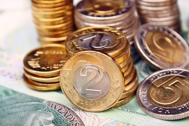 Dinero polaco imagenes de archivo