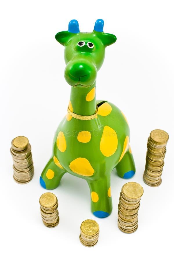 Dinero-rectángulo de la jirafa imágenes de archivo libres de regalías