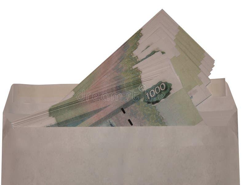 Dinero ruso en un sobre fotografía de archivo libre de regalías