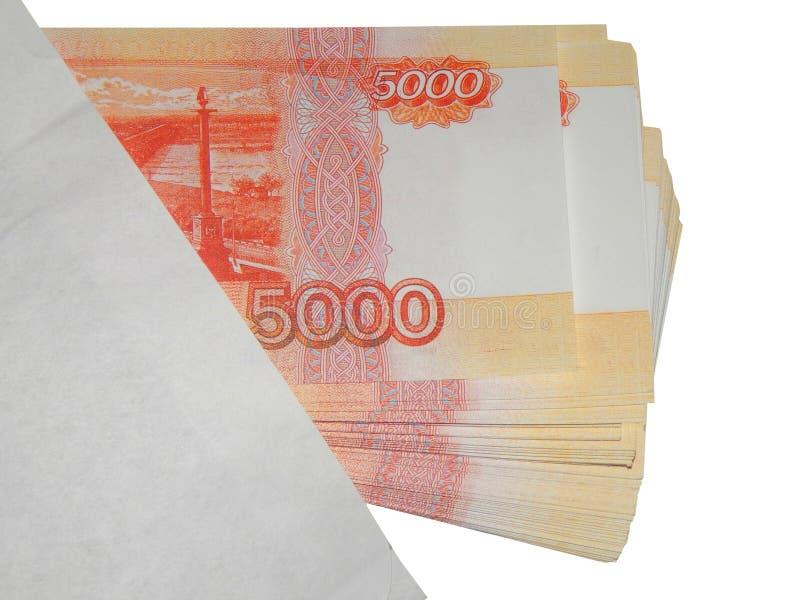 Dinero ruso en un sobre fotos de archivo libres de regalías