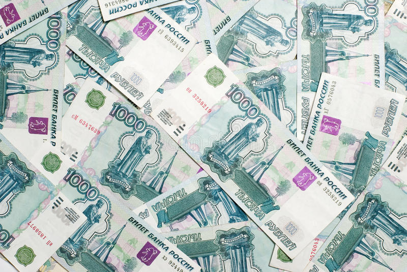 Dinero ruso (millares de rublos) fotos de archivo